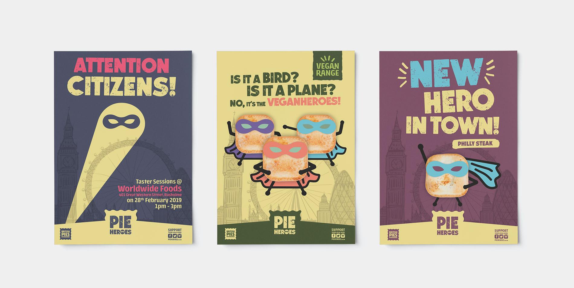 Pie Heroes Posters