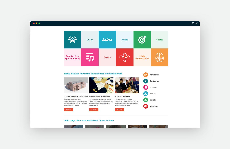 Taqwa Website Mockup