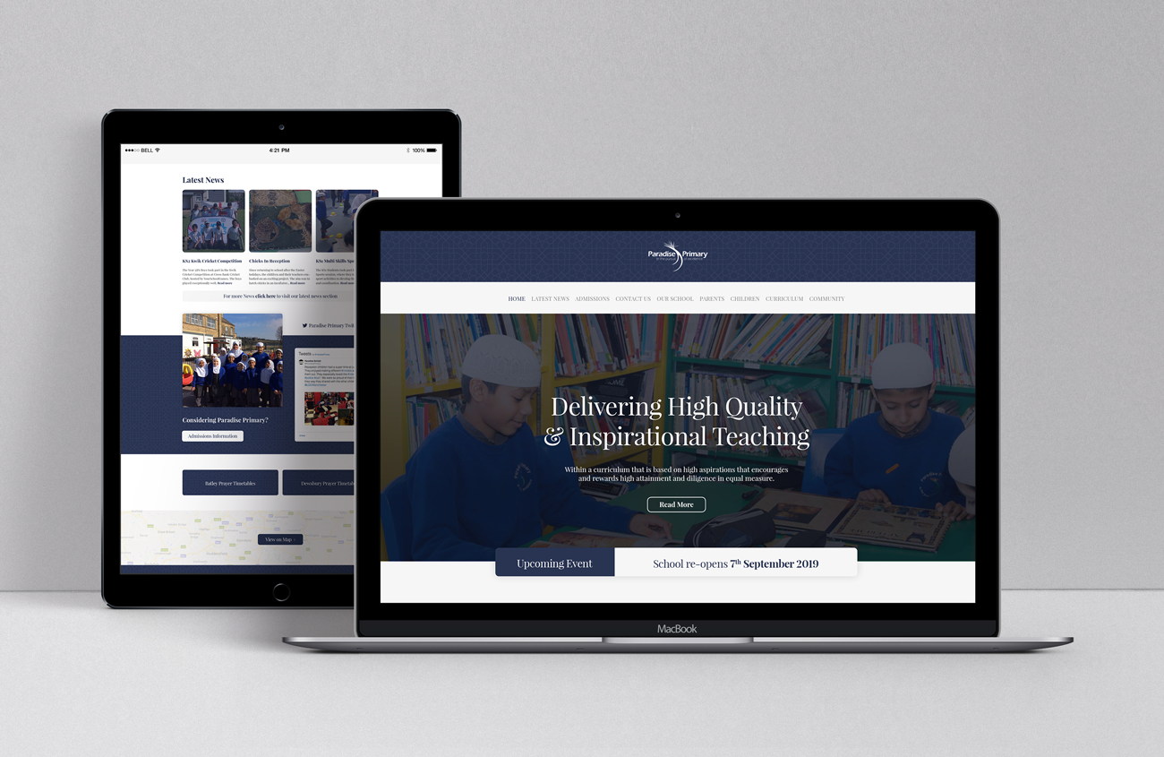 Paradise Primary Website Mockup